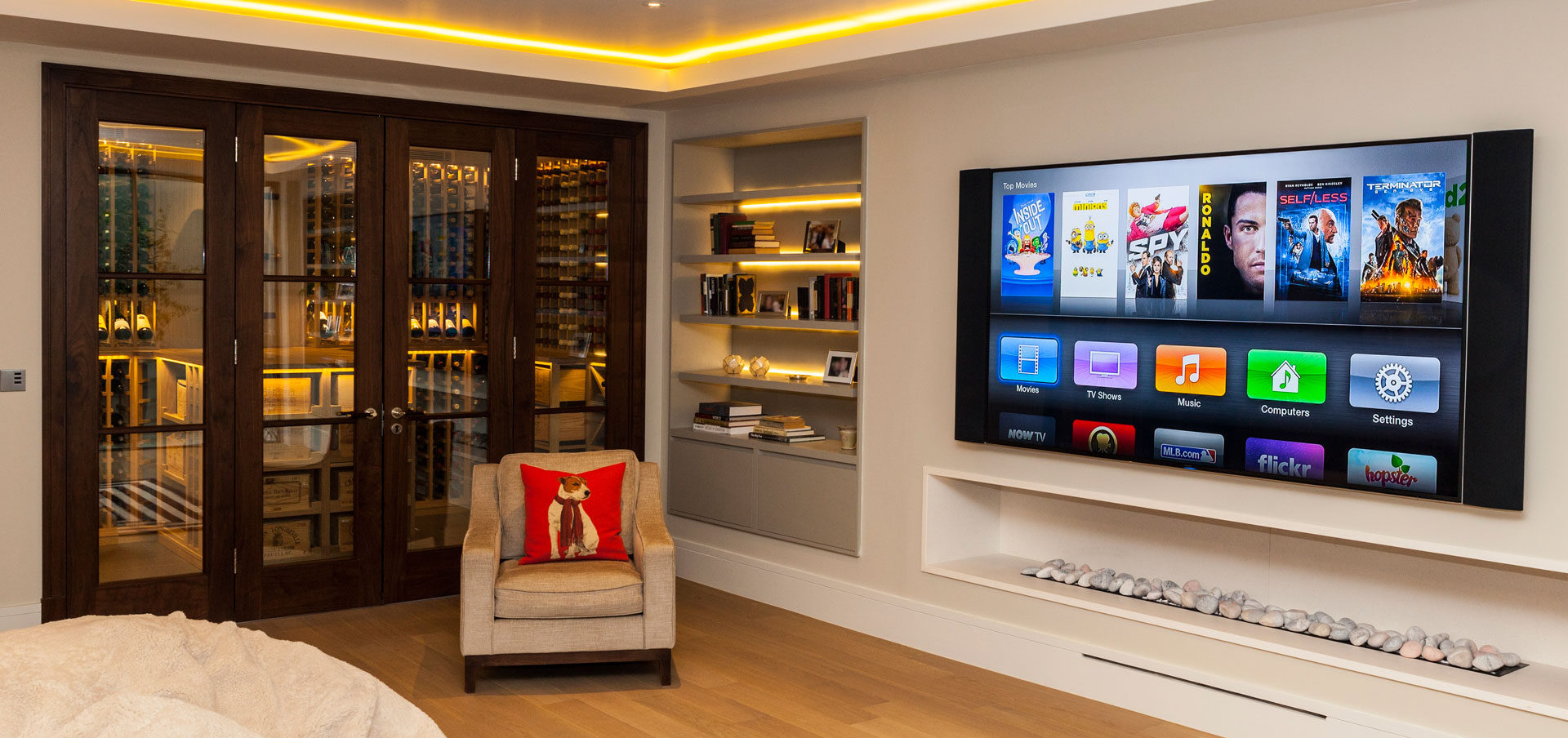 Smart Home Technology and Home Entertainment & Automation designed Visionworks in London