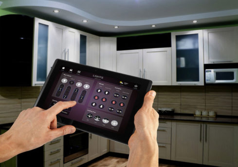 Home automation system to control kitchen appliances using an iPad by specialist home automation installers in London, Visionworks.