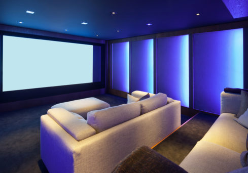 Home cinema lighting designed and installed by Visionworks in Kensington.