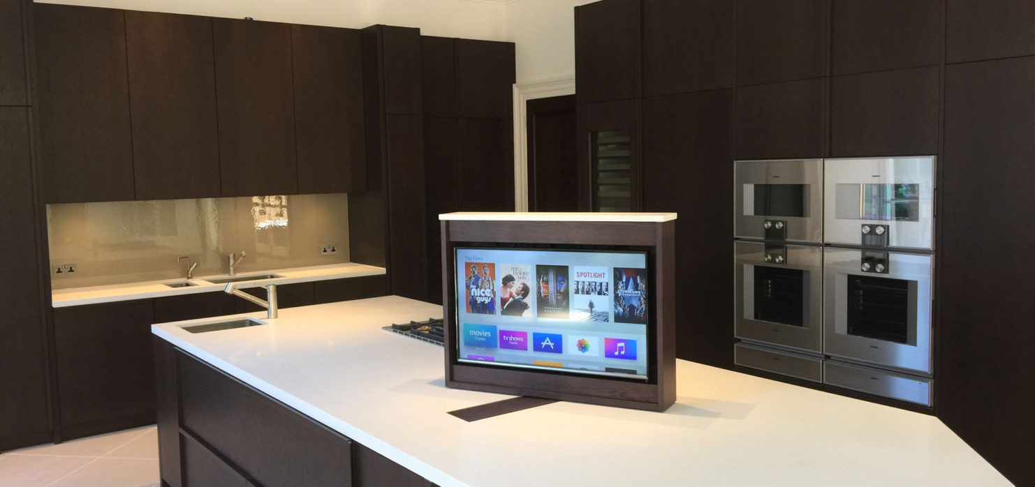Hidden Kitchen Hidden Tv Installation In London Visionworks Home Entertainment
