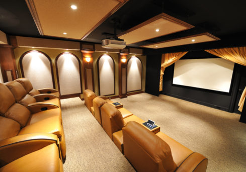 Home Cinema Installation by Visionworks in London.