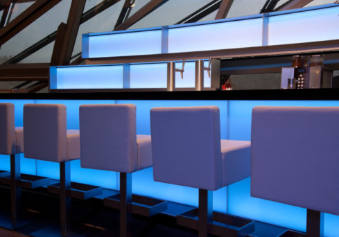 Lighting control systems and lighting design by Visionworks in London.